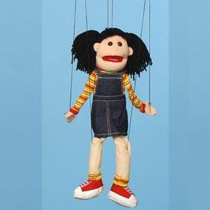 MegaTrends Merchandise WB1572 Marionette Puppet - 22 in. - Hispanic Girl