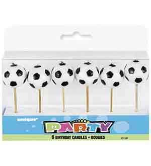 Soccer Pick Birthday Candles 6ct [Contains 4 Manufacturer Retail Unit(s) Per Amazon Combined Package Sales Unit] - SKU# 71187