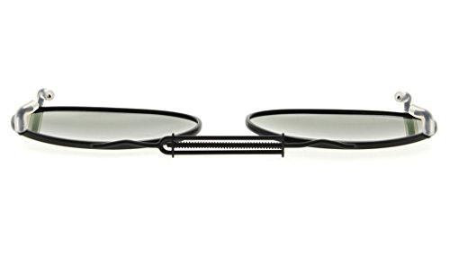 sol lente en marco 49x30mm Eyekepper oval gafas G15 clip Metal borde polarizado de xUXCwvZR