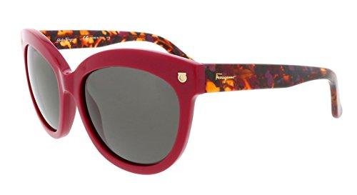 SALVATORE FERRAGAMO SF675S-512-55 Sunglasses, Raspberry ()