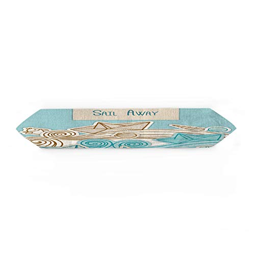 Cloud Dream Home Kids Room Decor Table Runner for Morden Greenery Garden Wedding Party Table Setting Decorations Ocean 13x70inch