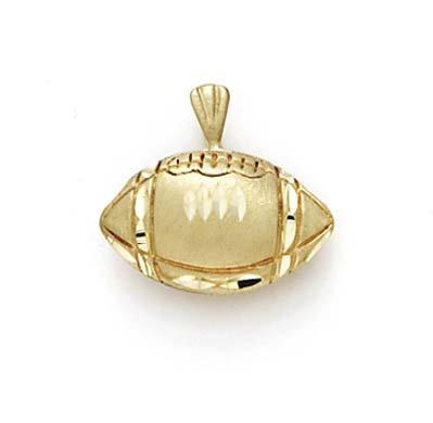 Taille 14 Carats Pendentif Ballon de Foot-JewelryWeb