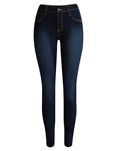 Guoji Womens Skinny Pocket Stretch