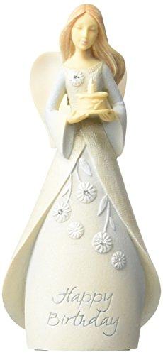 Foundations Birthday Mini Angel Stone Resin Figurine, 4.25
