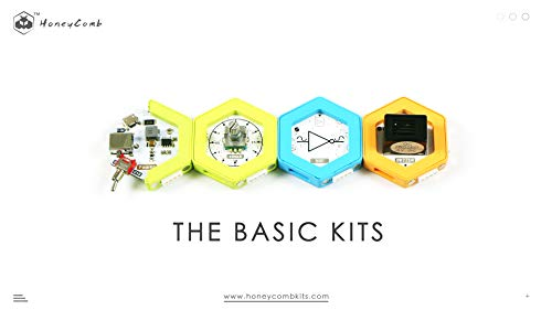 HoneyComb Basic Kit | Over 100 STEM Projects | Programming Coding Logic | Snap magnetic connection | Age 8 and up | Unlimited Fun | No Experience Needed| A Great STEM Toy for Both Boys and Girls! by Elecfreaks (Image #1)