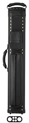 Elite 2-Butt and 4-Shaft Prime Leather Pool Cue Case by Elite
