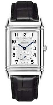 Jaeger LeCoultre Grande Reverso Manual Wind Leather Strap Mens Watch Q3738420 (Grande Lecoultre Jaeger)