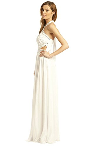 Maxi Polly Kleid Womens White Abend IKRUSH xC5gq4w5