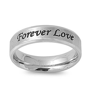 Forever Love Ring (STR-0020 6mm Stainless Steel