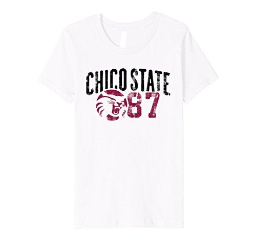 Kids Chico State University Wildcats T Shirt Csuw1002 6 White
