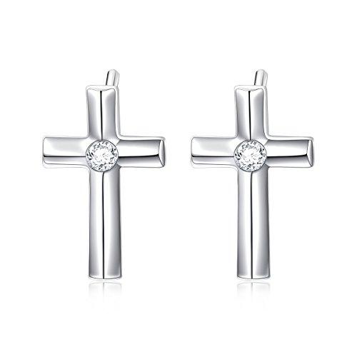 Linsoir Beads Stainless Steel 14mm Minimalist Small Hoop Earrings Huggie Earrings for Women Men Valentines Day Jewelry 2 Pairs//lot