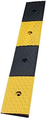 段差 スロープ スピードベルトに沿ってスロープ6センチメートルのスロープパッドステップステップパッド道路に沿ってゴムの道 カーポート・車庫アクセサリ (色 : Black, Size : 100x25x6cm)