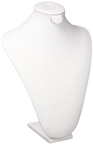 White Faux Leather Padded Necklace - SE JND3224W White Faux Leather Jewelry
