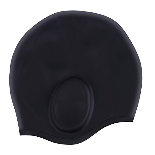Aegend Silicone Swimming Cap for Long Hair, Swim Cap with 3D Ergonomic Design Ear Pockets Great Elasticity and No Deformation for Adult Woman Men Keeps Hair Clean Ear Dry