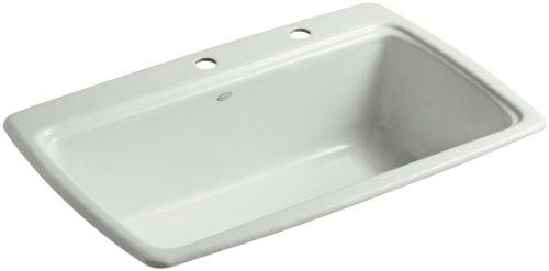 (KOHLER K-5863-2-FF Cape Dory Self-Rimming Kitchen Sink, Sea Salt)