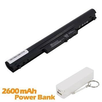 Battpit Bateria de repuesto para portátiles HP Pavilion Sleekbook 14-b021ss (2200mah) con 2600mAh Banco de energía/batería externa (blanco) para Smartphone: ...