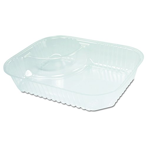 Dart C68NT2 Lg Clear 2 Comp Nacho Tray (Case of 500)