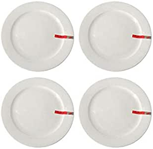 Dove porclin Dinner Plate Set 4-Piece White 12 inch,BMW274