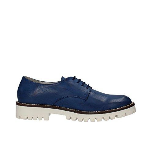 HB HELENE zapatos elegantes mujer Azul cuero AF02
