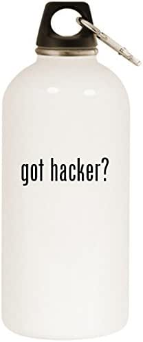 Molandra Products got Hacker? - White 20oz Stainless Steel Water Bottle with Carabiner