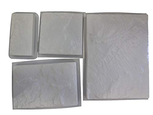 Slate Flagstone Set of 4 Stepping Stone Concrete Molds 2024