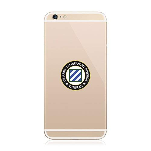 2X - US Army 3rd Infantry Division Veteran Patch Cell Phone Sticker Diecut Decal Vinyl Made in USA