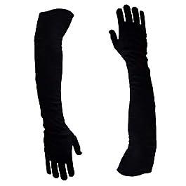 AVISHITI Men/Women Cotton Bike Riding Sun Protective Gloves_Free Size_Black_Pack of 1