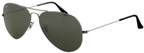 Ray-Ban Sunglasses - RB3025 Aviator Large Metal / Frame: Gunmetal Lens: Crystal Green Polarized (58 mm)