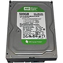 Western Digital Caviar Green WD5000AACS 500GB 16MB Cache SATA 3.0Gb/s 3.5in Internal Hard Drive 1 Year Warranty