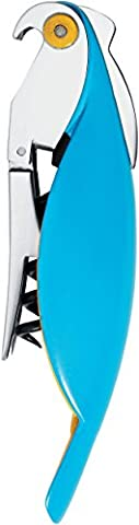 A di Alessi Parrot Sommelier-Style Corkscrew, Blue