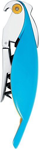 A di Alessi Parrot Sommelier-Style Corkscrew, Blue Alessi Bottle Opener