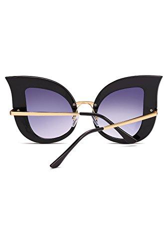1 Gafas Mujeres Perla De Gradiente De Metal Las Frame Remaches Ojo Color De Sol Gato De pxqdZg7w