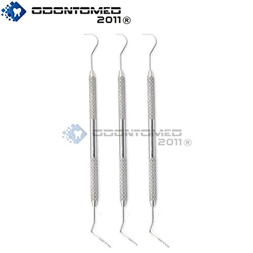 OdontoMed2011 3 PCS Dental Williams Explorer Probe 23 Color Coded Marking Double Ended ODM