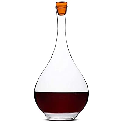 BTäT- Wine Decanter with Stopper, 60 oz Decanter, Hand Blown 100% Lead Free Crystal Glass, Wine Accessories, Wine Carafe, Wine Gift, Wine Craft, Red Wine Decanter, Wine Decanter Set Wine Air Aerator