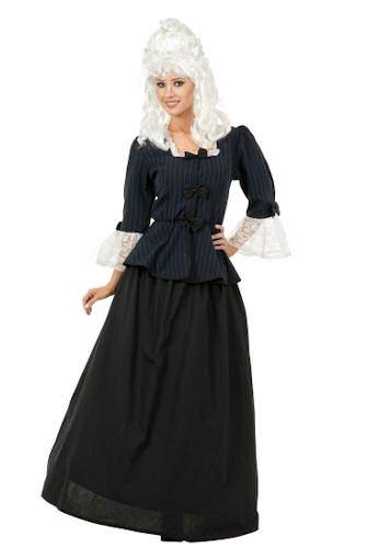 Colonial First Lady Costumes (Womens XSM (3-5)-Martha Washington/Colonial Woman Costume (No Wig))