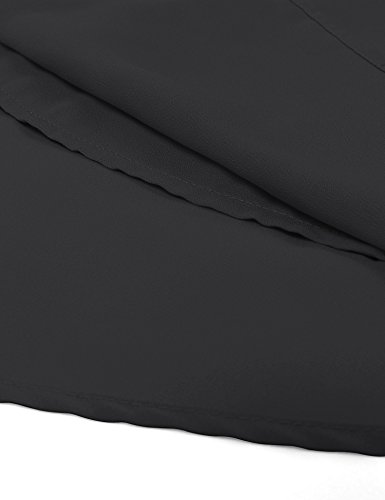 Altelime Blouse Shirts For Women, Summer Sleeveless Loose Casual Fit Chiffon Lounge Pleated Layered Tank Top Shirts Black XL by Altelime (Image #3)
