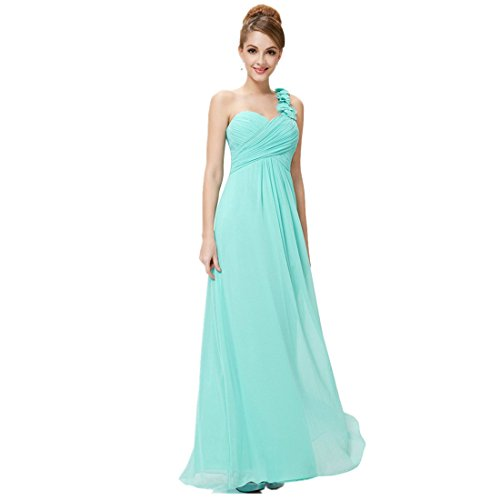 083ee32810cf Loel Women's Flower One Shoulder Long Bridesmaid Dress Chiffon Plaza Gown  for Evening Party