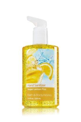 Bath & Body Works Sugar Lemon Fizz Full Size Hand Sanitizer Anti-bacterial Gel 7.6 fl oz