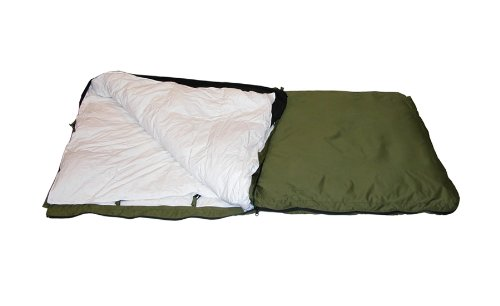 Woods Arctic 5 Star Canadian Made, Minus 50-Degree Fahrenheit Sleeping Bag , Olive, Large, Outdoor Stuffs