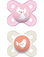 MAM Start Newborn Pacifiers Value Pack (2 pack, 1 Sterilizing Pacifier Case), Newborn Baby Girl Pacifiers, Best Pacifier for Breastfed Babies