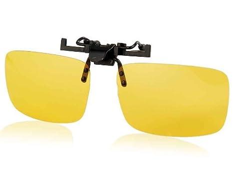 Conducción Gafas de visión nocturna polarizadas clip (Amarillo): Amazon.es: Electrónica