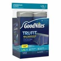 Goodnites Tru-Fit Real Underwear Starter Pack L/XL, Boys by Goodnites