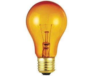 Westinghouse 0344300, 25w, 120v Trans Amber Incandescent A19 Light Bulb - 2500Hr, 36-Pack