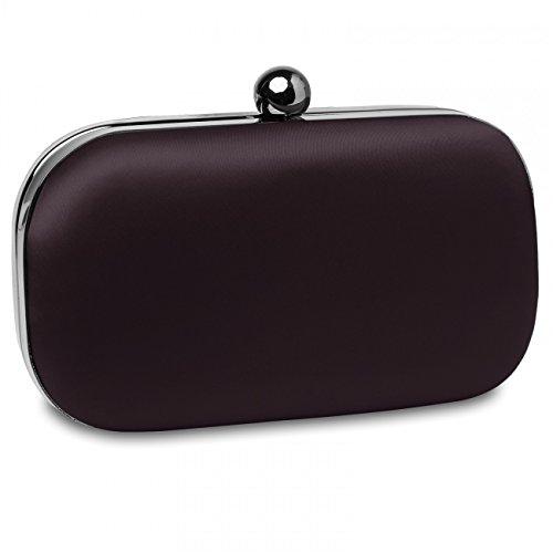 CASPAR Fashion - Cartera de mano para mujer - marrón oscuro