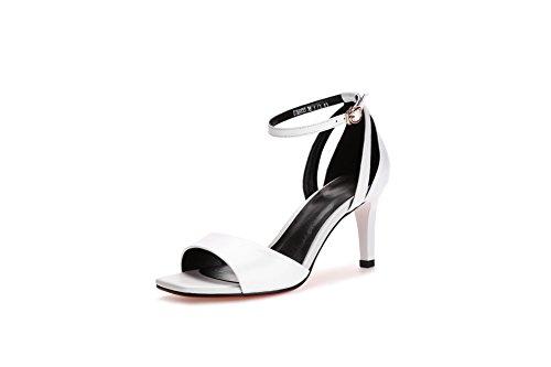 Donna EU Bianco Ballerine AN 35 White DIU01054 qRfvxH4a