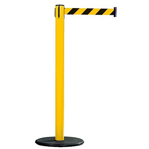RS-GUIDESYSTEMS GLA 28-E/17-4,0 Gurtpfosten, innen, gelb, gelb/schwarz schraffiert, 4 m aus Kunststoff