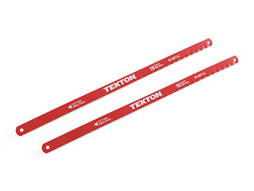 TEKTON 6832 12-Inch by 18 TPI Bi-Metal Hacksaw Blades, 2-Piece