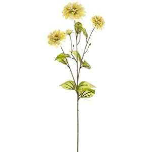 "26"" Silk Zinnia Flower Spray -Cream (Pack of 12) 116"