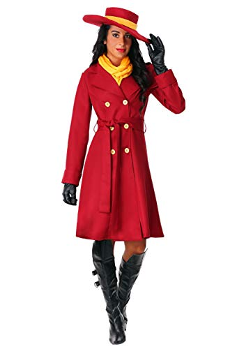 Women's Carmen Sandiego Costume Medium Red -