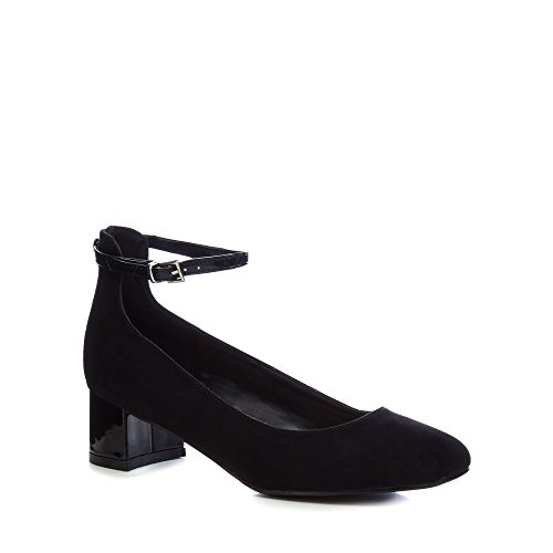 Debenhams The Collection Womens Black 'Carla' Mid Block Heel Court Shoes y6Z9l